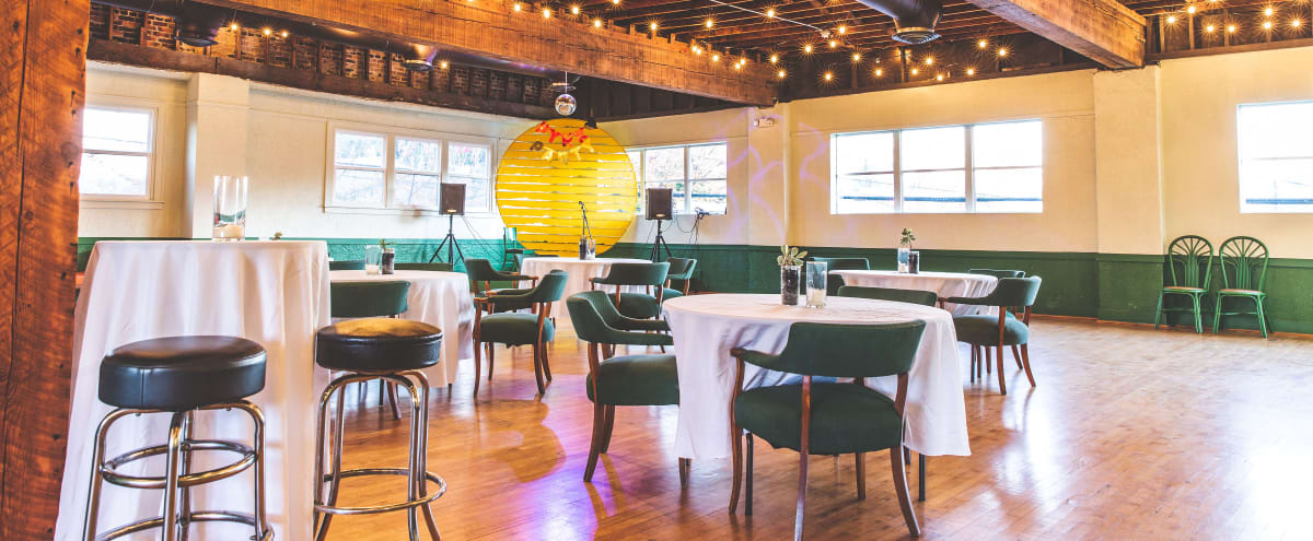Boho Dance Hall with Great Light in Seattle Hero Image in Greater Duwamish, Seattle, WA