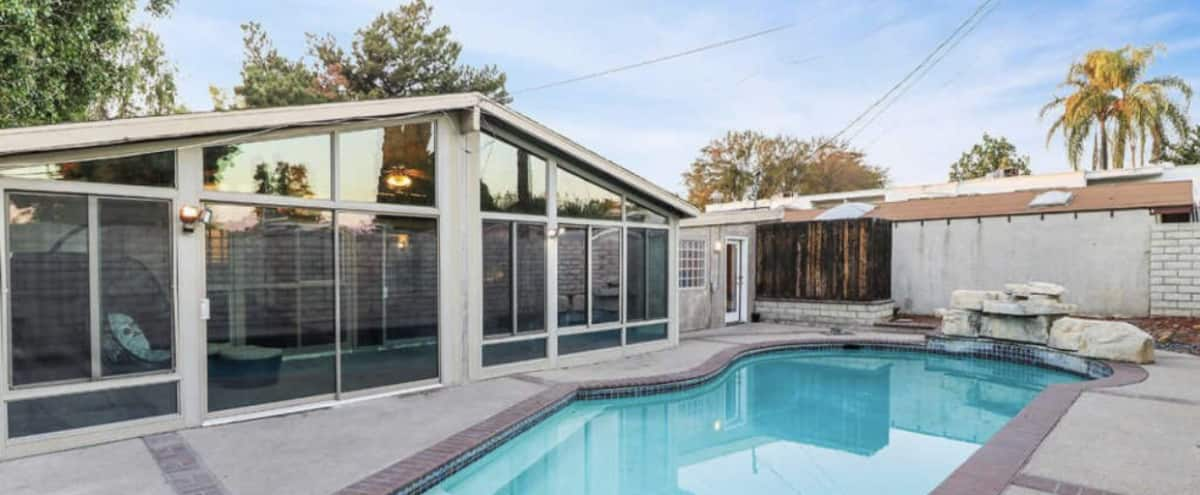Entire Private Pool House with Studio Room in Los Angeles Hero Image in Northridge, Los Angeles, CA
