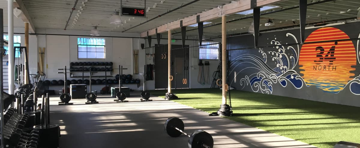 Private Santa Monica Gym perfect for private training, content creation, virtual classes, photography and more in Santa Monica Hero Image in Sunset Park, Santa Monica, CA