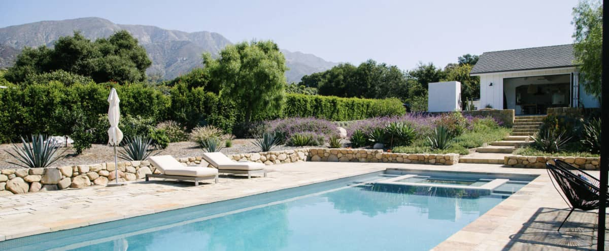 Modern California Ranch House with pool in Montecito Hero Image in undefined, Montecito, CA