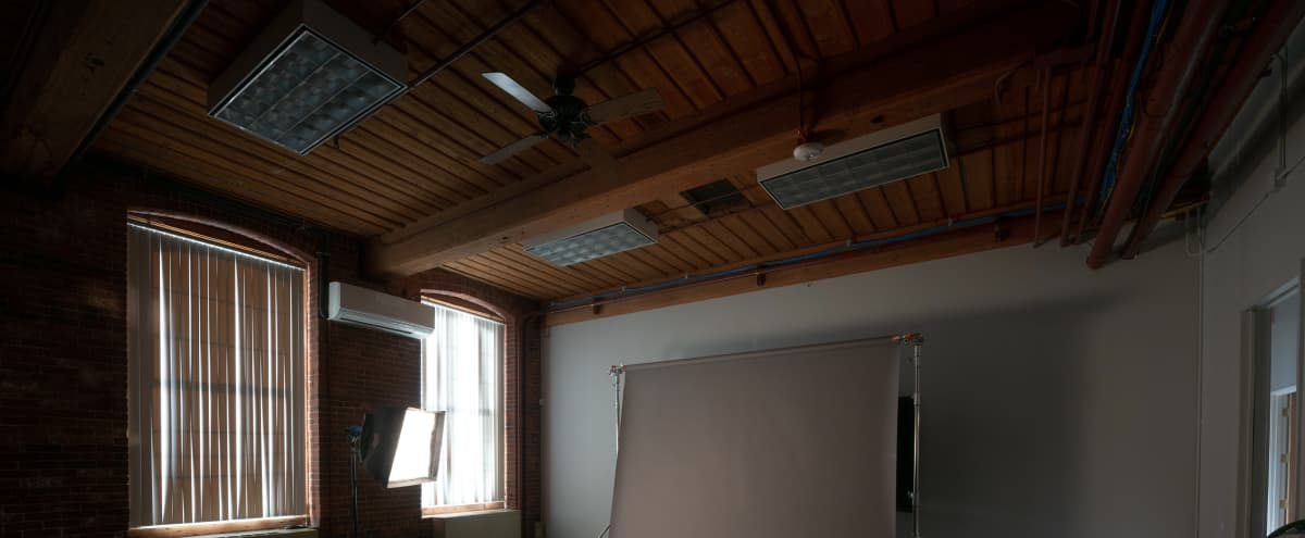 Great Production Space in Historic Brick and Beam Mill Building in Newton Hero Image in Nonantum, Newton, MA