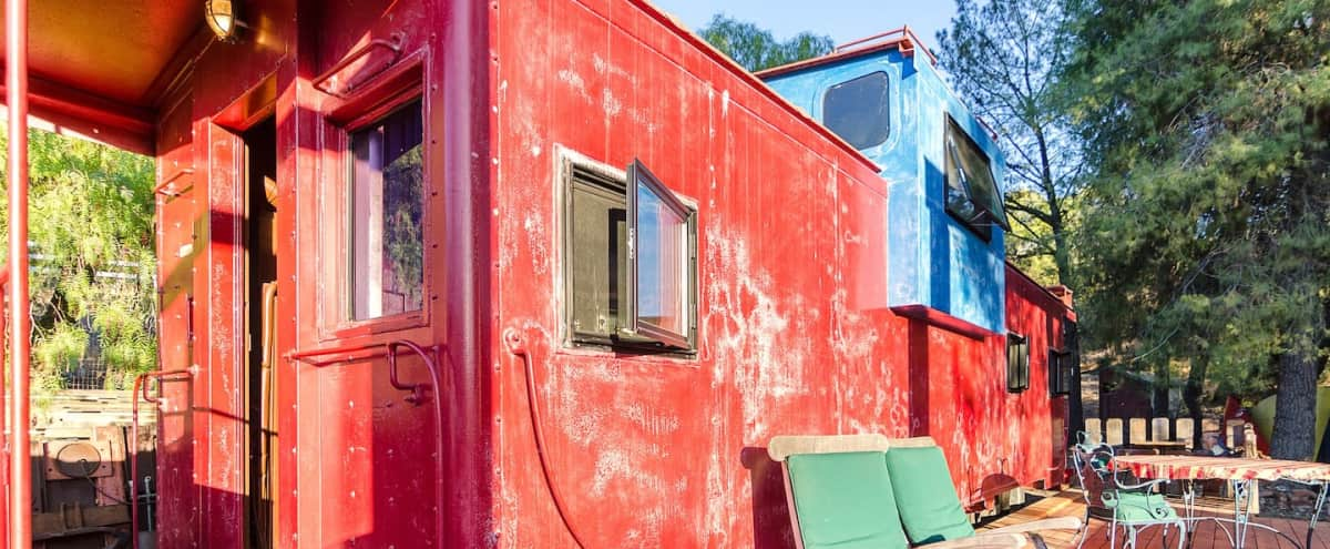 Train Caboose with View Near Malibu in Agoura Hero Image in undefined, Agoura, CA