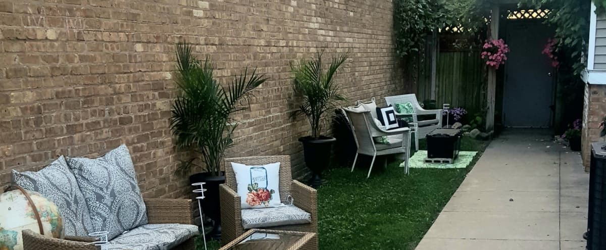 """Magical garden known as """"The Secret Garden '' is Chicago's hidden gem (with use of suite included). Wow your guest with this intimategarden. in Chicago Hero Image in Portage Park, Chicago, IL"""