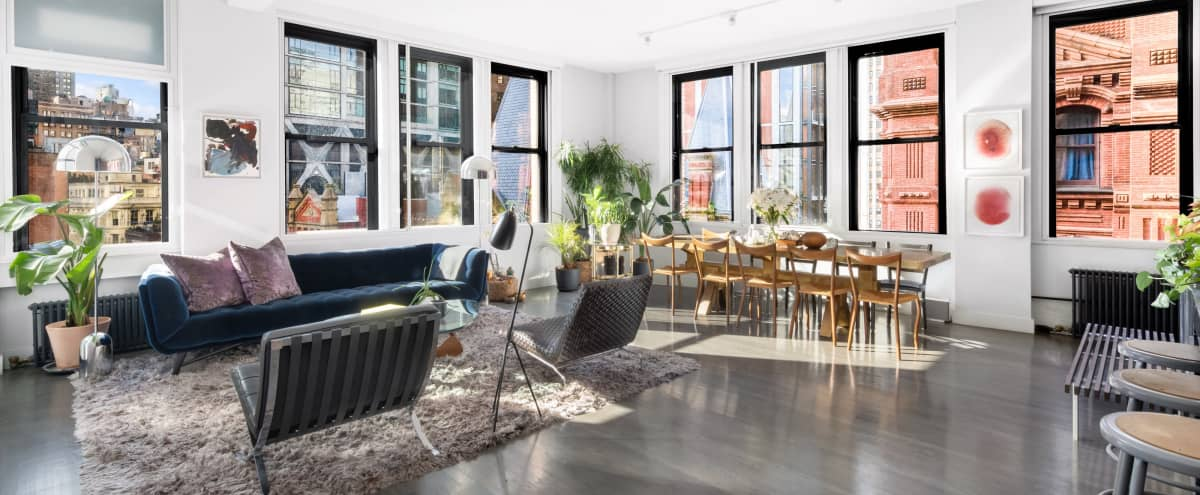 Downtown Corner Loft with 13 windows and Skyline View in New York Hero Image in Financial District, New York, NY