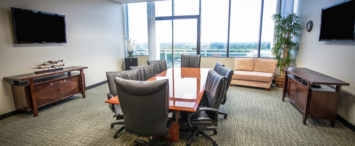 Executive 8 Person Conference Room in Long Beach in Long Beach Hero Image in Eastside, Long Beach, CA