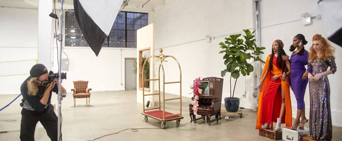 Production Creative Space with Furniture Props and Day light in Brooklyn Hero Image in East Williamsburg, Brooklyn, NY
