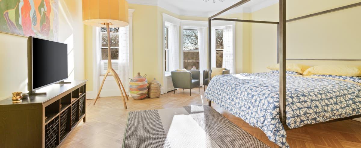 THE SUNSHINE SUITE   Historic Landmark Brownstone Mansion in Brooklyn Hero Image in Crown Heights, Brooklyn, NY