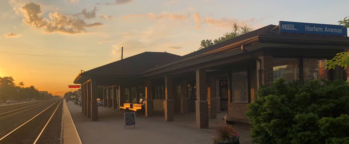 Unique Industrial Café on Metra Train Station Platform in Berwyn Hero Image in undefined, Berwyn, IL