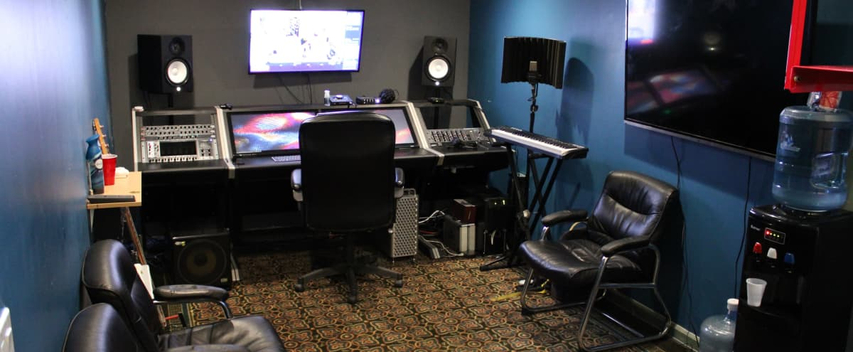 Urban Recording Studio with Loft Stairs and Lounge Vibes in Oakland Hero Image in Jingletown, Oakland, CA