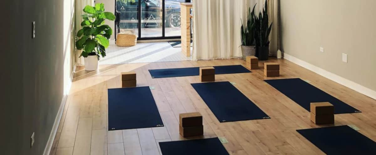 Modern and Minimal Yoga Studio in Chicago Hero Image in Wicker Park, Chicago, IL