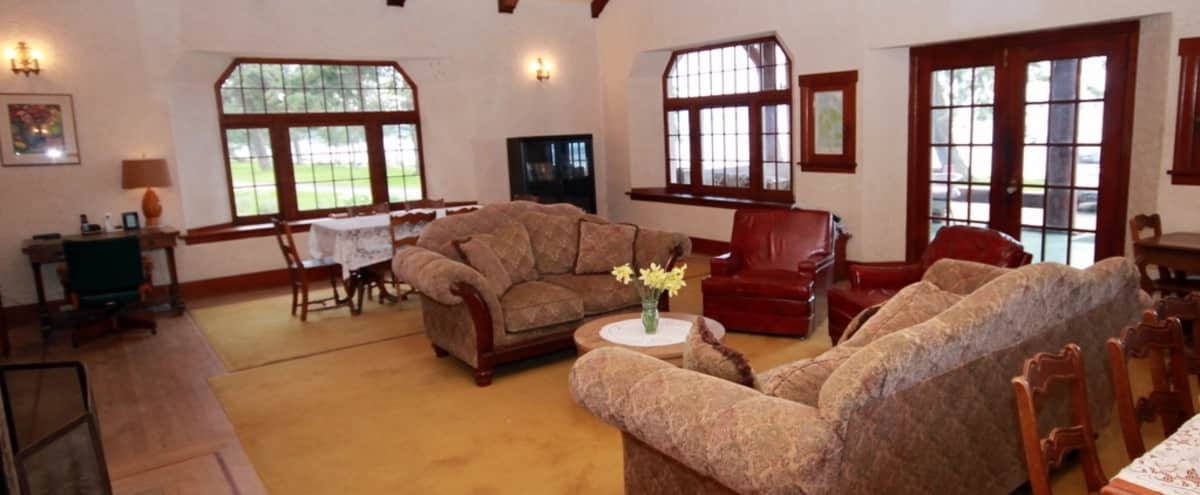 Vintage Beachfront Lodge with Meeting Space and Kitchen in Eastsound Hero Image in The Lodge, Eastsound, WA
