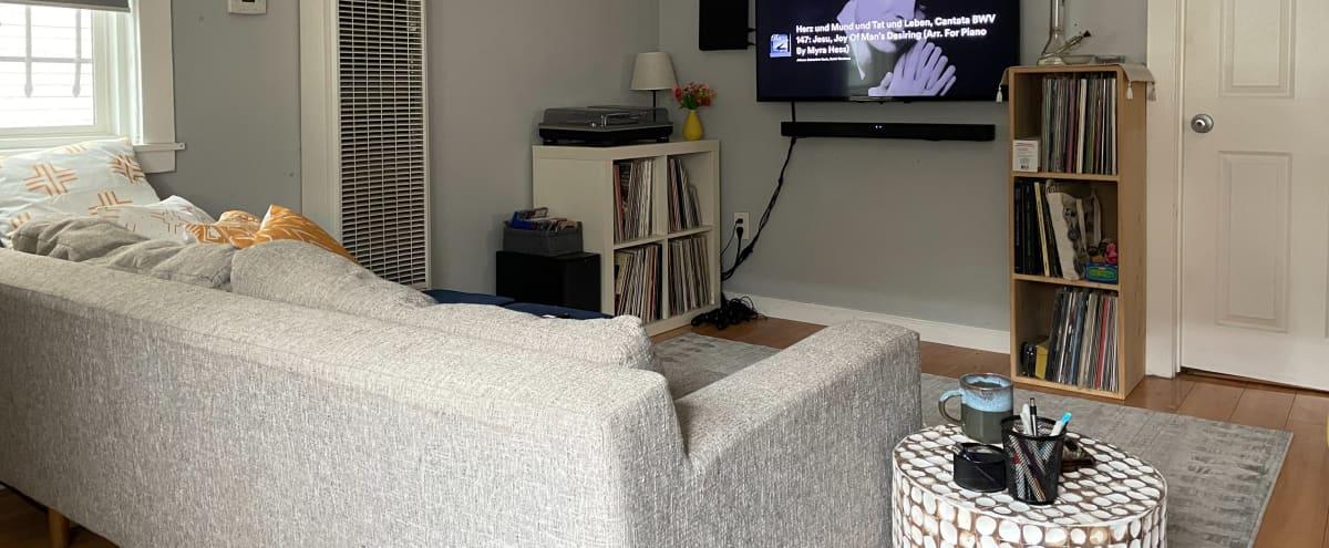Modern Living Room in Flat in Oakland Hero Image in Longfellow, Oakland, CA