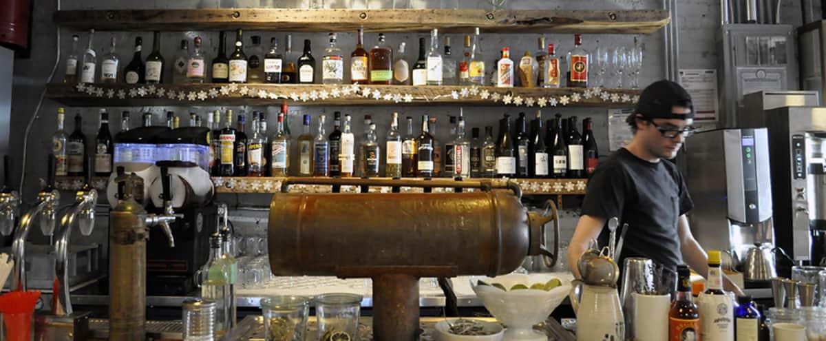 Industrial bar meets modern/cabin restaurant in Astoria Hero Image in Astoria, Astoria, NY