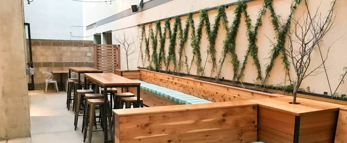 Patio at Intimate Urban Food Hall in San Jose Hero Image in Central San Jose, San Jose, CA
