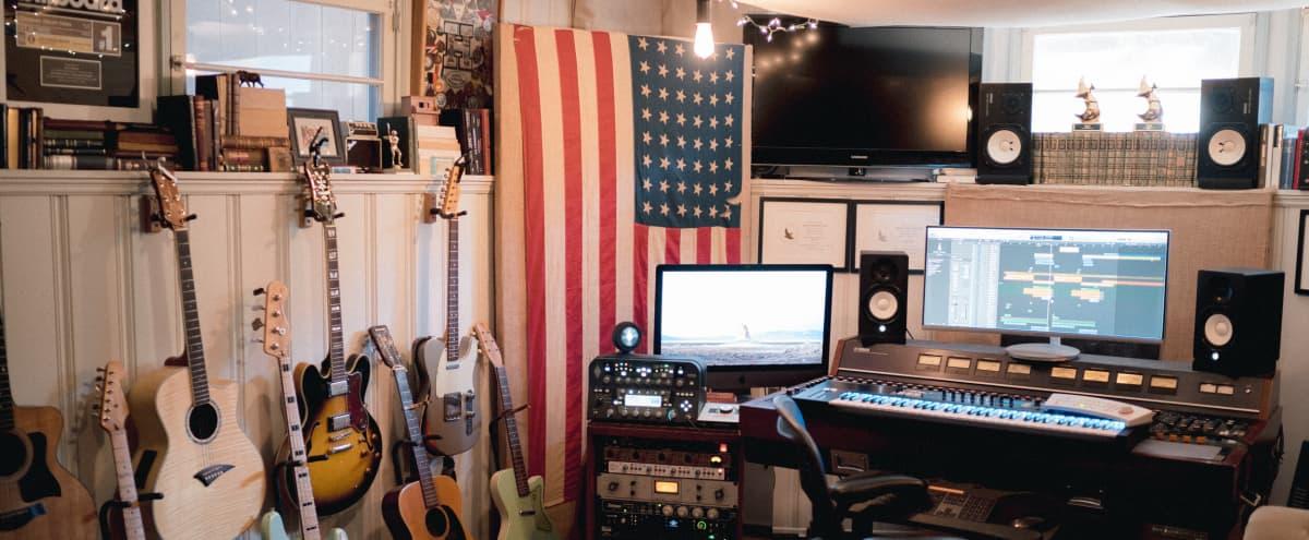 Spanish Home with Vintage Recording Studio in Los Angeles Hero Image in Mid City, Los Angeles, CA