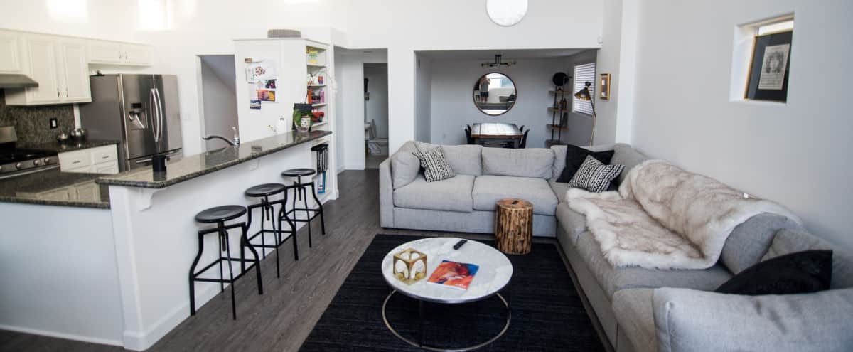 Boho Venice Beach Pad w/ 20ft Ceilings & Expansive Rooftop Deck w/ Views! in Marina Del Rey Hero Image in Venice, Marina Del Rey, CA