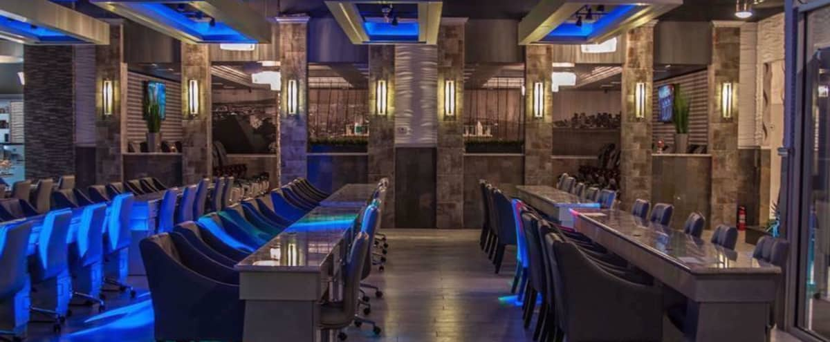 Swanky nail bar & lounge event space in Houston Hero Image in Willowbrook, Houston, TX