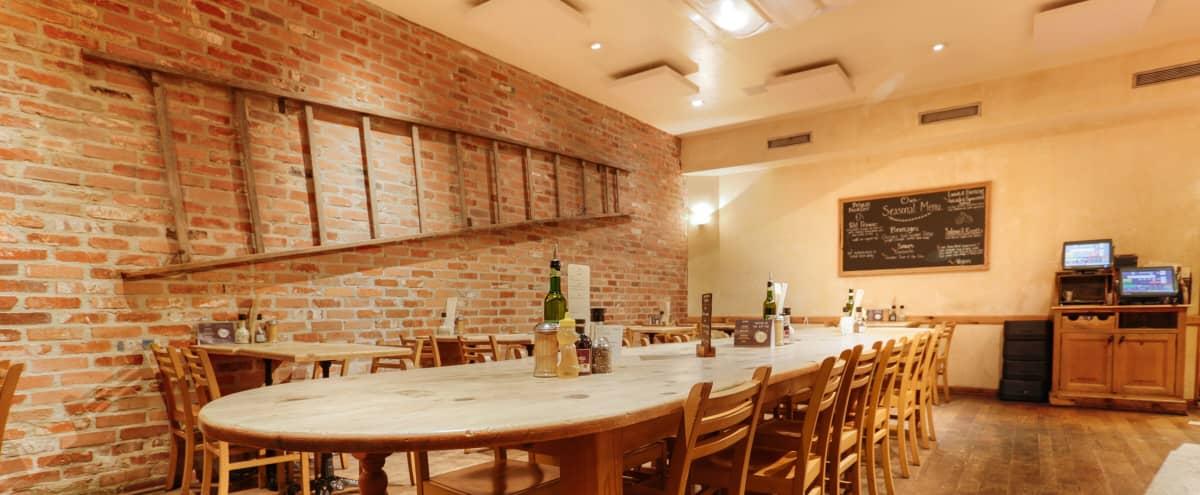 Rustic European Cafe With Skylight Ceiling & Outdoor Patio in Los Angeles Hero Image in Central LA, Los Angeles, CA