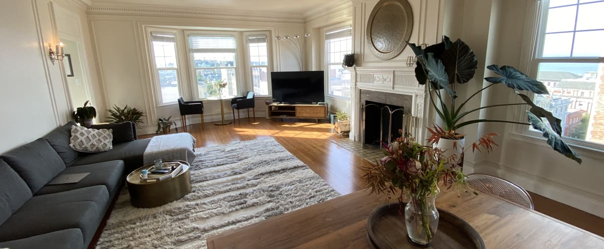 Spacious Light-Filled Pacific Heights Apartment with Dramatic Bay & Bridge Views in San Francisco Hero Image in Pacific Heights, San Francisco, CA