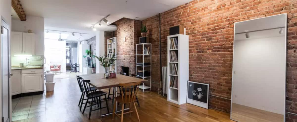 Spacious ground floor Williamsburg apartment with skylight in Brooklyn Hero Image in Williamsburg, Brooklyn, NY