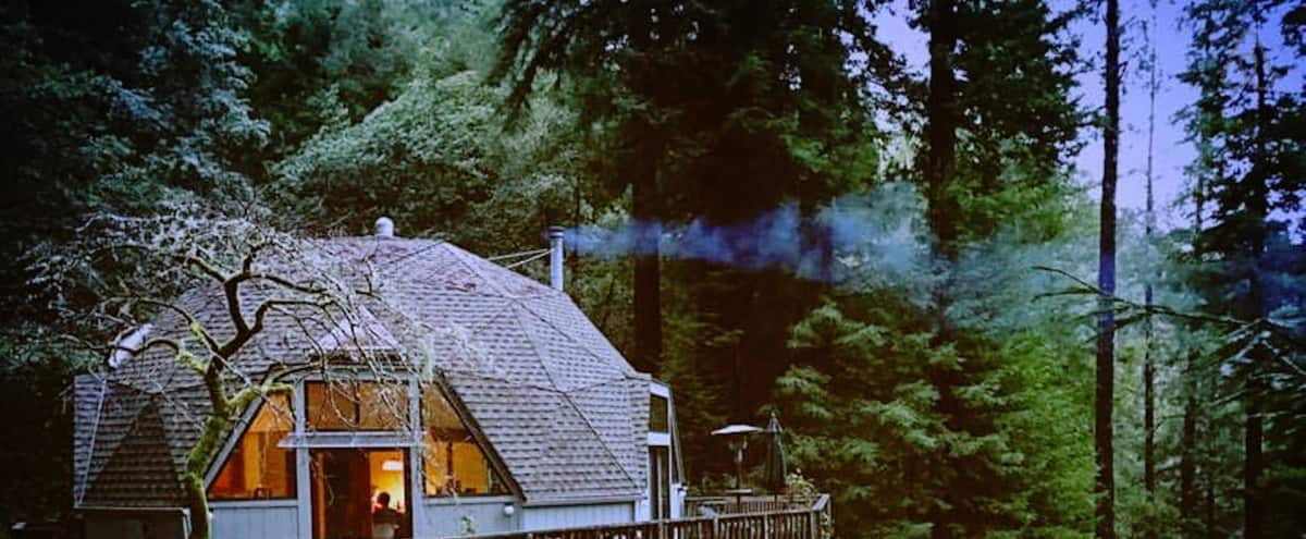 Geodesic Dome in a Redwood Clearing in Cazadero Hero Image in undefined, Cazadero, CA