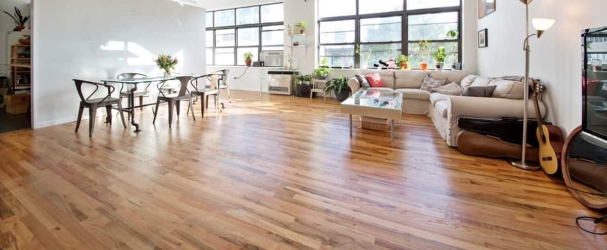 Spacious Williamsburg Loft with lots of natural light (Old Ammunition Factory) in Brooklyn Hero Image in Williamsburg, Brooklyn, NY