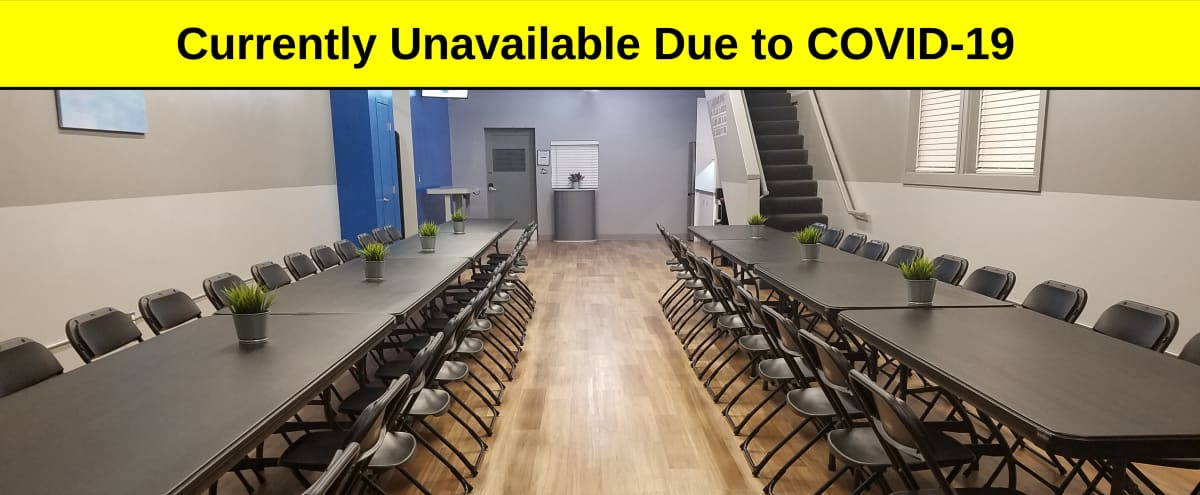 Modern Industrial Venue in Long Beach feat. Large Studio, Stage, Dry Kitchen, and Plenty of Free Parking - Near Airport, Long Beach Exchange, and City College in Long Beach Hero Image in Lakewood Village, Long Beach, CA