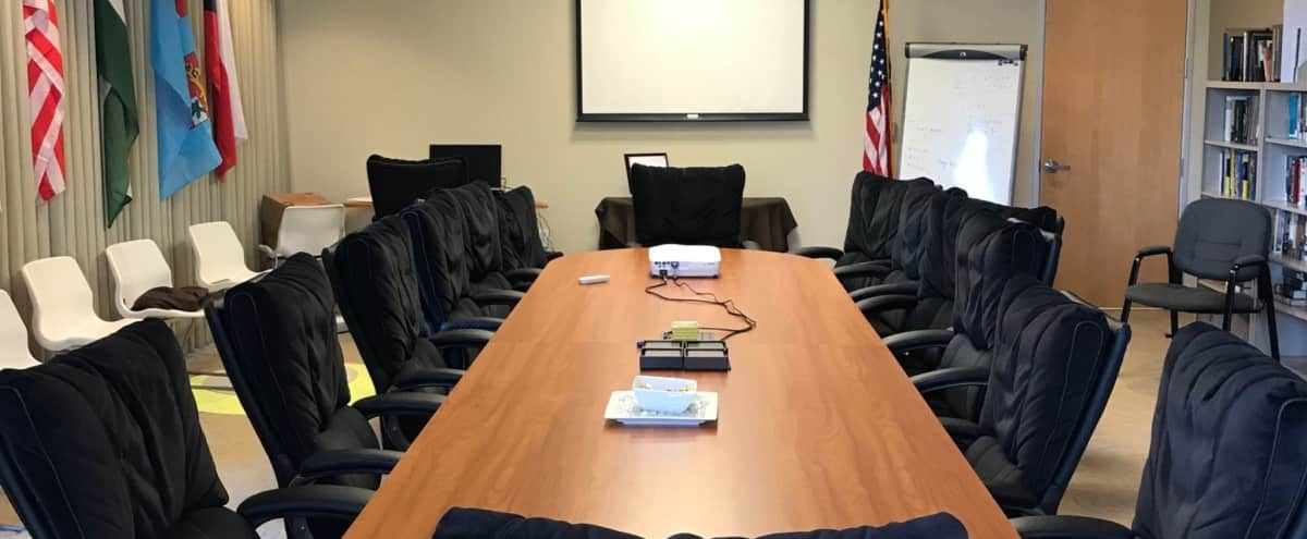 Conference Meeting Room with Coffee and Water in San Jose Hero Image in Alviso, San Jose, CA