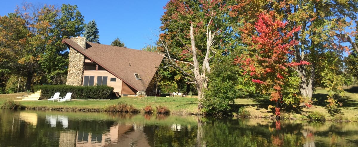 21 acre outdoor event location with private lake, woods, meadow and gardens in Warwick Hero Image in undefined, Warwick, NY
