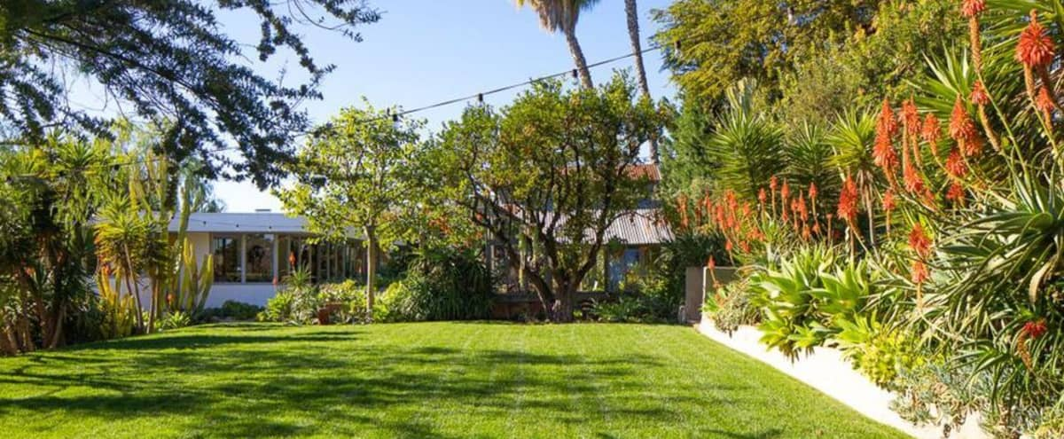 Historic Mid-Century Modern House with 3 HUGE yards, 20 parking spots, 10 mins to DTLA in Los Angeles Hero Image in Jefferson, Los Angeles, CA