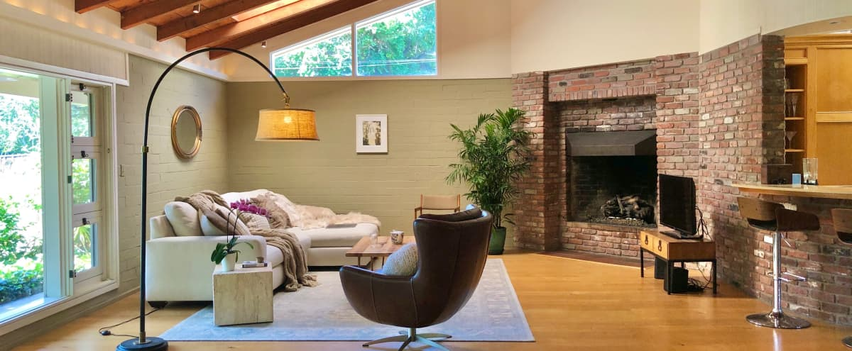 Chic Cliff May Inspired Mid-century Rancho Home with Gardens in San Gabriel Hero Image in undefined, San Gabriel, CA