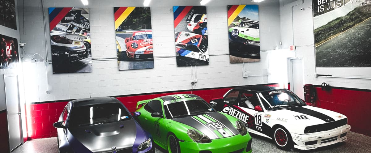 Industrial Car Garage with Automotive Museum Vibe in Deer Park Hero Image in undefined, Deer Park, NY