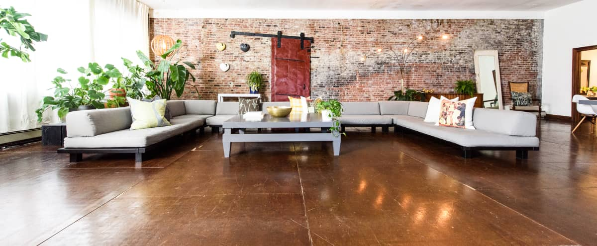 Spacious and Quiet Four Bedroom 4500 sq ft Furnished Industrial Loft in Brooklyn Hero Image in Clinton Hill, Brooklyn, NY