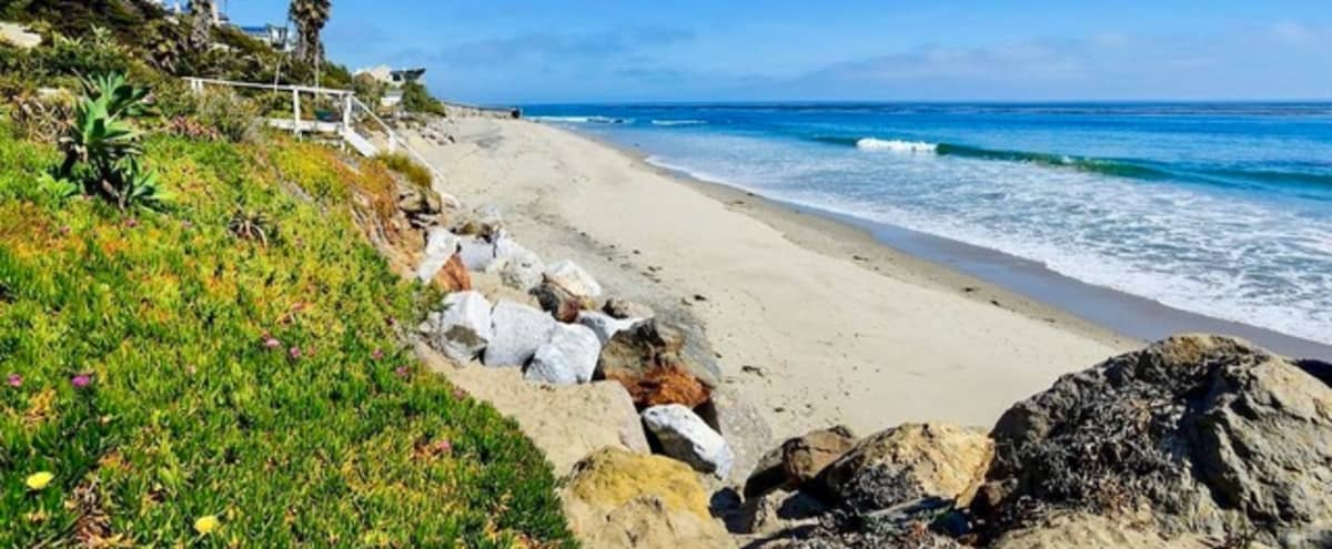 Secluded Beach | Retro Tiki Bungalow with Large Landscaped Yard & Patios in Malibu Hero Image in Malibu, Malibu, CA