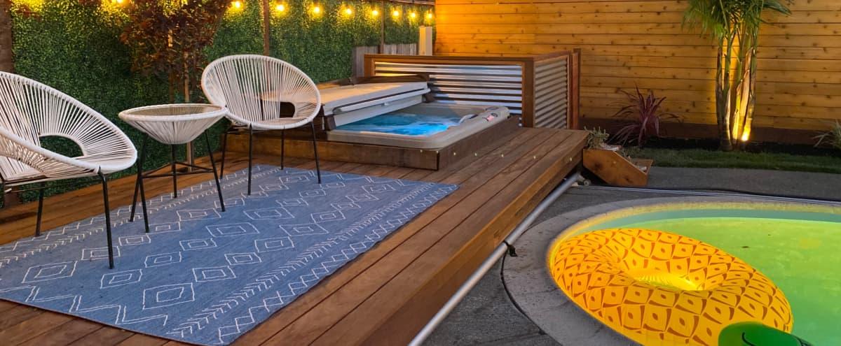Tropical Modern Backyard Space in San Rafae Hero Image in undefined, San Rafae, CA