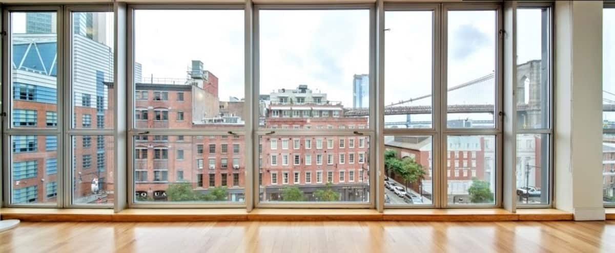 Loft with Iconic Bridge View in New York Hero Image in Lower Manhattan, New York, NY