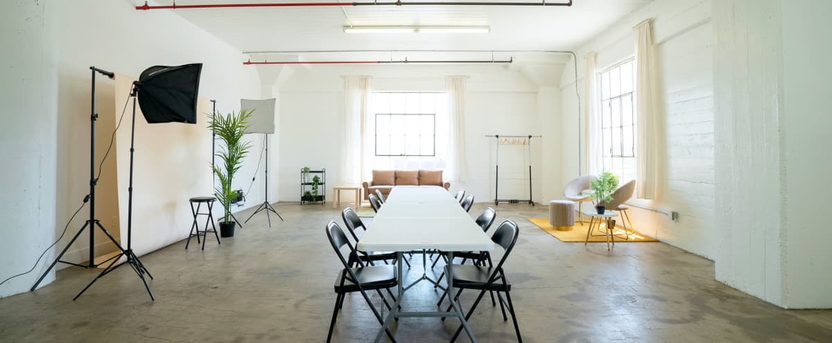 Arts District Meeting Space w Natural light + AC in Los Angeles Hero Image in Central LA, Los Angeles, CA
