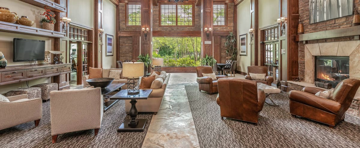 Rustic and Lodge Style Great Room in Tewksbury in Tewksbury Hero Image in North Tewksbury, Tewksbury, MA