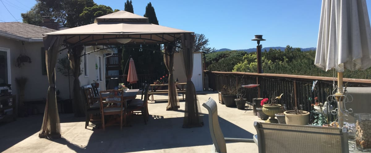 Beautiful deck with bay view perfect for small events in San Mateo Hero Image in Hillsdale, San Mateo, CA