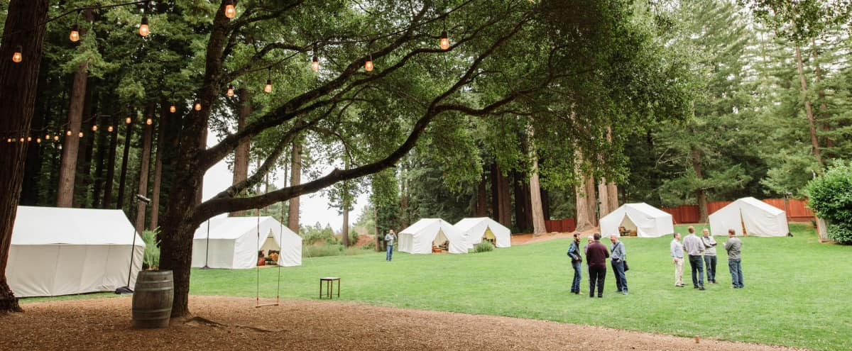 Natural Event Space Tucked in the Redwoods in Redwood City Hero Image in Sky Londa, Redwood City, CA