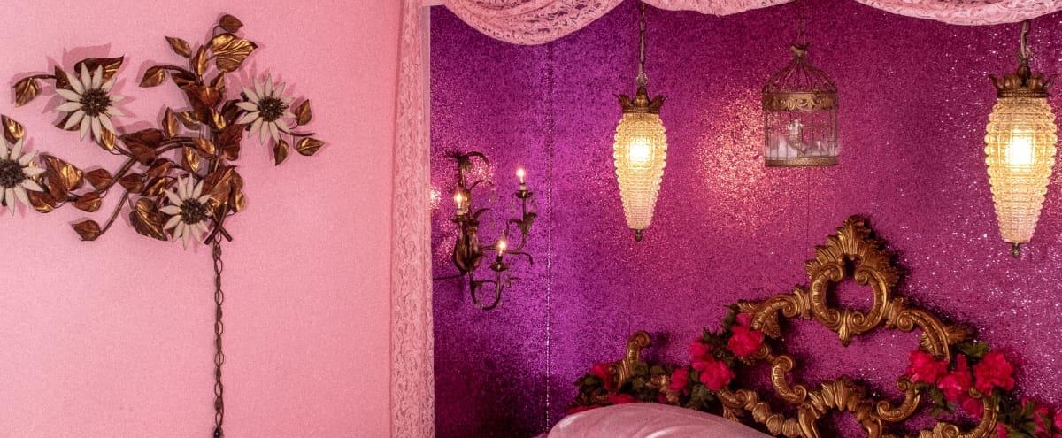 Opulent Pink Poodle Room, Midcentury House, and Tiki Bar in Costa Mesa Hero Image in Mesa Del Mar, Costa Mesa, CA