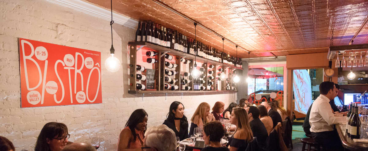 Romantic Wine Bar in New York Hero Image in Midtown, New York, NY