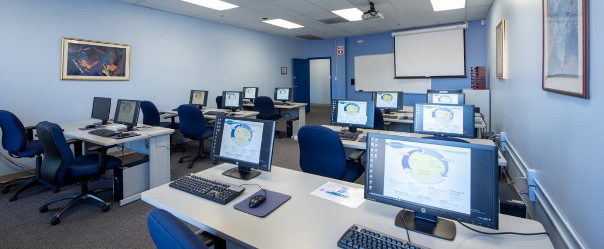 Fully Equipped, 12 Person Computer Lab and Training Room in Hunt Valley Hero Image in Hunt Valley, Hunt Valley, MD