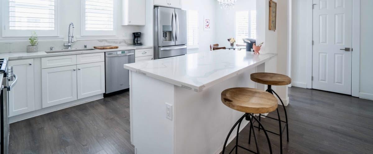 Mid-Century Modern Home / Open White Kitchen / Backyard in Los Angeles Hero Image in Central LA, Los Angeles, CA