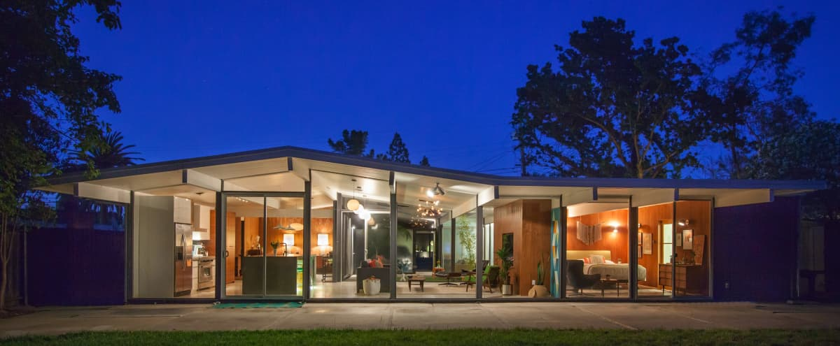 Mid Century Modern Home - open kitchen, atrium, floor to ceiling windows in Walnut Creek Hero Image in San Miguel, Walnut Creek, CA