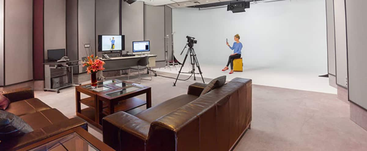 Soundproof Digital Video Production Stage and Photography Studio with 3 Wall Cyclorama and Green Screen in Culver City Hero Image in Lucerne - Higuera, Culver City, CA