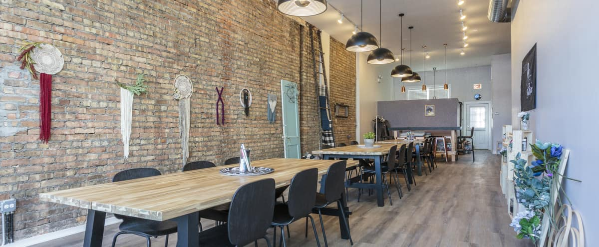 Creative Lakeview Studio | exposed brick + natural light for photography + film production in Chicago Hero Image in Lake View, Chicago, IL