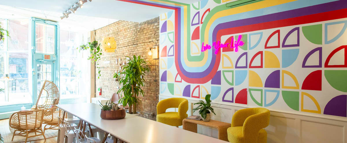 Bright and Colorful Office in a Neighborhood Setting in Chicago Hero Image in Lake View East, Chicago, IL