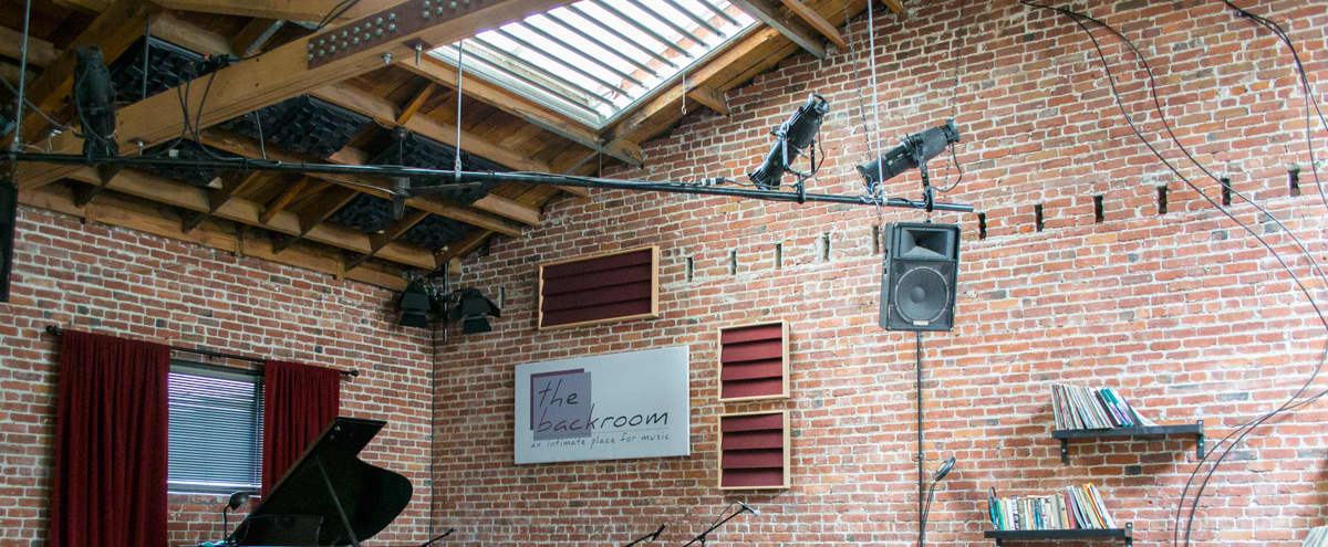 Downtown Performance Space w/ Brick Walls, Skylights, & Stage in Berkeley Hero Image in Downtown Berkeley, Berkeley, CA