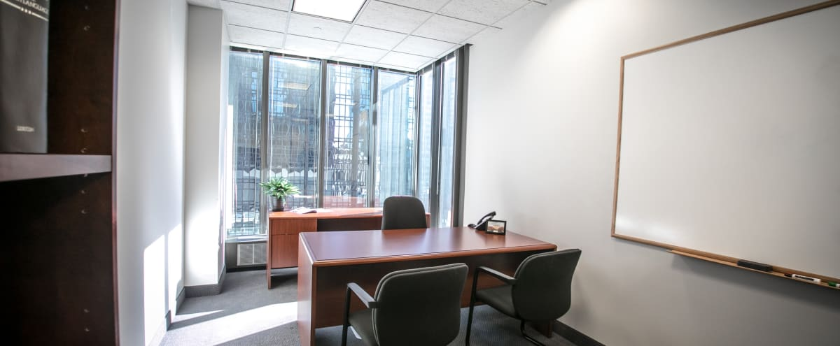 Private Interview Room w/ Whiteboard & Beautiful View in Minneapolis Hero Image in Downtown West, Minneapolis, MN